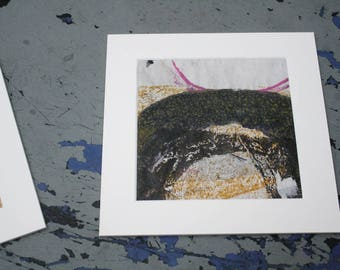 Isolated Moment #34: Original Abstract Painting on Paper