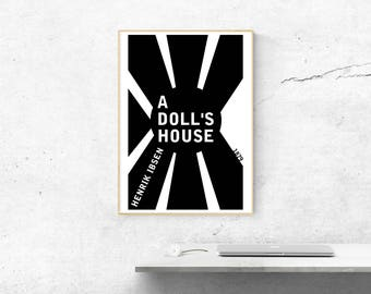 A Doll's House - Henrik Ibsen // Book Cover Poster // Literary Gift // Book Cover Art // Book Cover // Book Gift // Literary Poster