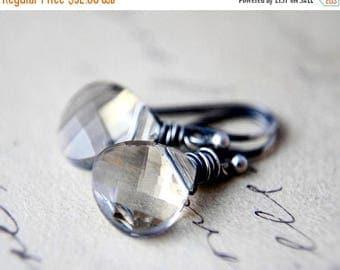 Summer Sale Crystal Earrings, Crystal Jewelry, Swarovski Crystal, Sterling Silver, Crystal Shade, Drop Earrings, Dangle Earrings, Taupe, Pol
