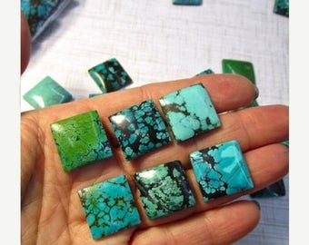 20% OFF SALE Natural Kingman Morenci Arizona Turquoise Cabochon, 18mm Square, Royston Nevada