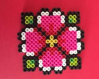 Flower Perler Bead Design