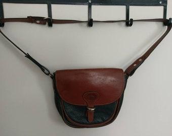 Vintage Retro 90s Delfino Leather Shoulder Bag
