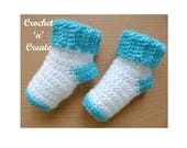 Baby Socks Crochet Pattern (DOWNLOAD) P64