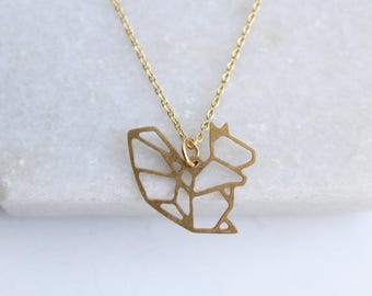 Squirrel Geometric Necklace | ATL-N-175