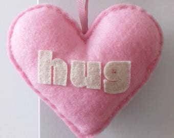 Love to HUG - Rose Pink Love Heart Decoration