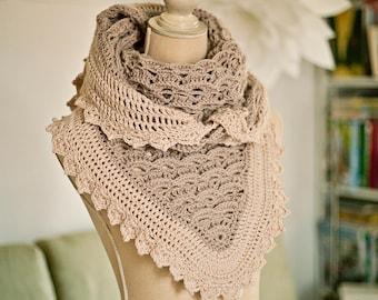 Crochet PATTERN  - Elizabeth Shawl