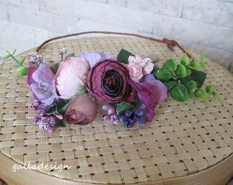 Beach wedding hair piece, fabric flowers, Floral hair piece, Bridal hair accessory,  wedding hairpiece, Art Deco Wedding,  flowers crown