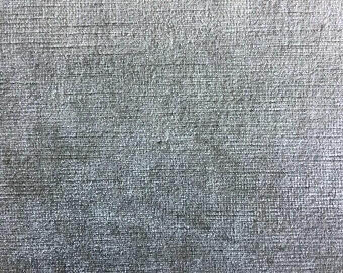 Beautiful Heavy Taupe Gray Velvet Upholstery Fabric