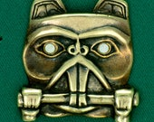 Beaver Totem Pin w/ Abalone Shell Eyes~ Bronze