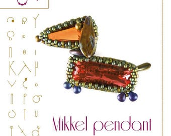 pendant tutorial / pattern Mikkel the dachshund – PDF instruction for personal use only