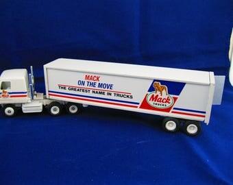 Mack Truck cab and trailer, metal