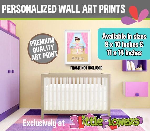 Ballerina Wall Art - Personalized Premium Art Nursery Print ...