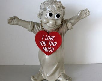 Russ Berrie I Love You This Much Large Statue, Red Heart, Valentines Day