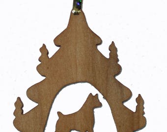 Boxer Silhouette Ornament, Christmas Tree Ornament, Holiday Decoration, Pet Lover's Tree Decoration