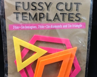 Fussy Cut Templates Hexagon, Diamonds, Triangle