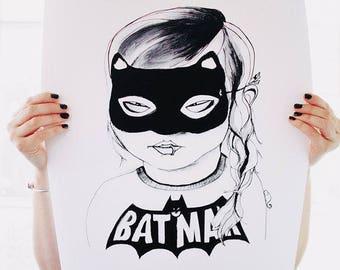 Cat Girl Poster Print