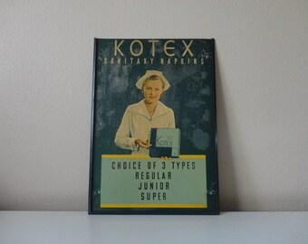 VINTAGE 1940s metal KOTEX sanitary napkins advertising SIGN