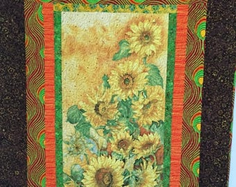 Summer sale Sun in My Heart, 46x63 inch art quilt