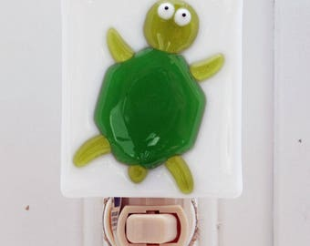 Glassworks Northwest - Turtle Night Light - Fused Glass Art