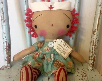 Nurse Raggedy Annie Doll - Nurse doll - Raggedy Ann - Raggedy Annie - Nurse - Nurse gifts - Ragdolls - doll -