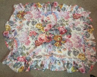 Ralph Lauren floral pillow cover / ralph lauren pillow case / floral ralph lauren / ralph lauren standard pillow cover /