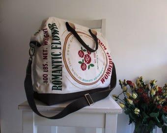 XL Coffee Sack Vintage Design Doctor Bag /Tote / Messenger