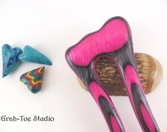 Hair Fork,Spectraply Wood,Hairfork Mermaids Tail,Grahtoe Hair Stick, Wood Hair Sticks,Gift for her,Hairforks,Man Bun,Hair Toy,Hair Forks,