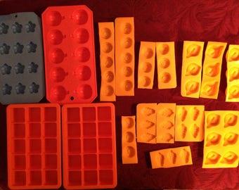 Big Set--Rubber--Silicone--MOLDS--Ervan Guttman--Roses--Calla Lily--Leaves--Flowers--Pumpkins--Squares
