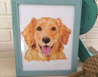 Golden Retriever Print, Dog Lover Gift,