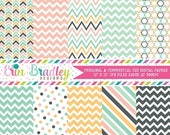 80% OFF SALE Beach Days Digital Paper Pack Commercial Use Instant Download