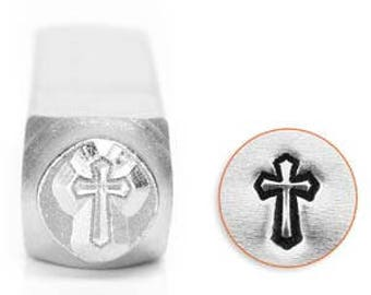6mm Cross Outline ImpressArt Metal Stamps Jewelry Stamps Metal Stamping Impress Art Metal Stamps