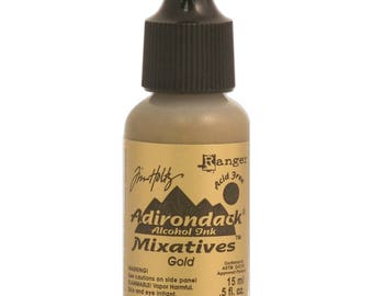 METALLIC GOLD Alcohol Ink Tim Holtz Ranger Adirondack Alcohol Inks