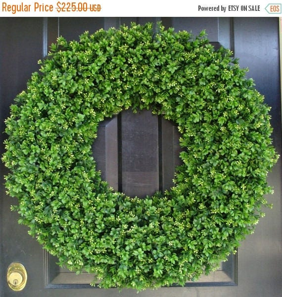 SUMMER WREATH SALE 28 Inch Xxl Artificial Boxwood Wreath, Oversized Wreath, Mantle Decor, Church Decor, Church Decoration, Wedding Wreath, S