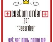 CUSTOM ORDER popsicles for Peeardee