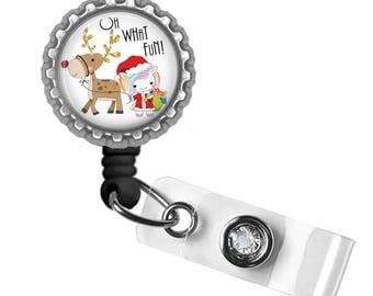 Holiday, ID Badge Holder, Badge Reel, Gifts for Nurses, Gifts for Student Nurses, Gifts for Teachers, Cute Badge Reel, Kawaii, Unicorn
