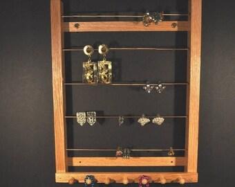 ON SALE Medium Hanging Earring Holder Earring Display Earring Storage Earring Organizer for Clip-On Style Earrings