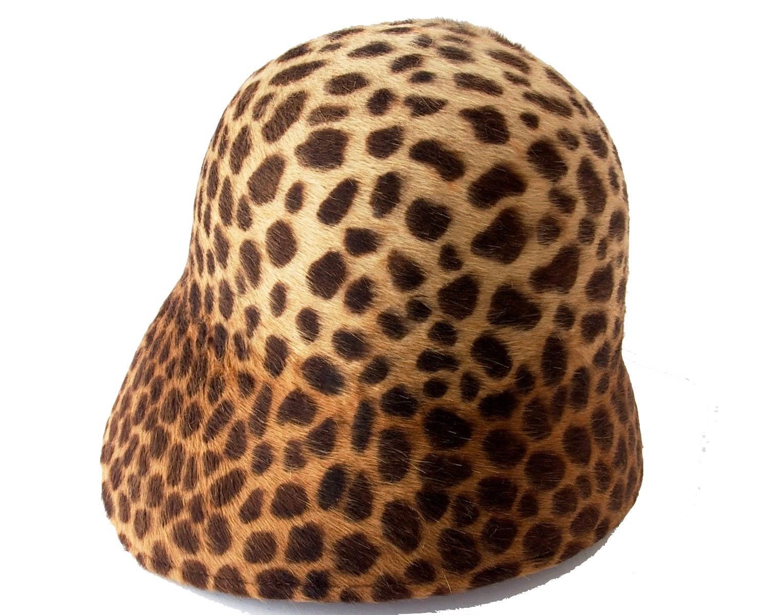 Leopard Print Cloche Hat Fall Fashion Winter Accessories