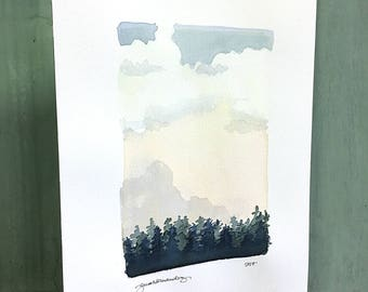 not there yet / original watercolor / one of a kind painting