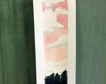 things are looking up / original watercolor / one of a kind painting