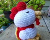 Cuddly Rooster, Year of the Rooster, Amigurumi Rooster, rooster toy, crochet rooster toy, farm animal, farmhouse decor, photo prop, stuffed