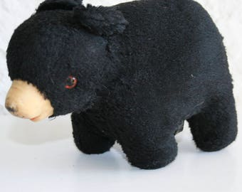 Small Stuffed Black Bear Made In Japan