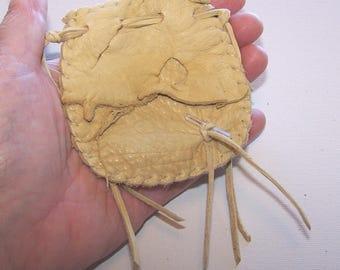 Beautiful Deerskin Medicine Bag ..CREAM