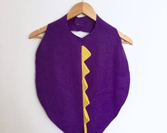 Purple Dinosaur Cape, Halloween Costume or Dress Up Dino r Dragon Cape