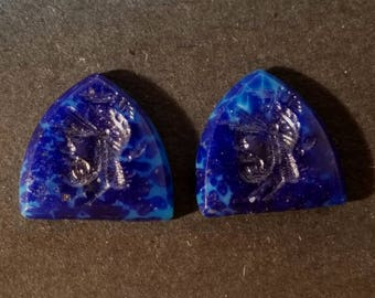 Vintage Midnight Blue Glass Cabochons