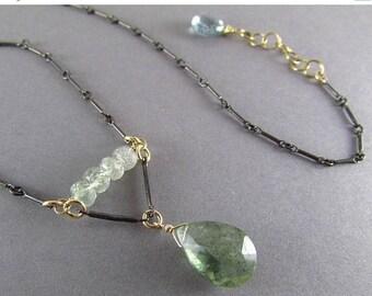 25 OFF Moss Aquamarine Mixed Metal Necklace