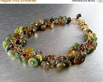 25 OFF Black Ethiopian Opal Heishi And Gold Filled Bracelet