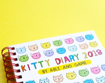 2018 Kitty Diary | 2018 Planner | Cat Diary