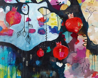 Abundance || bold soulful acrylic mixed media CANVAS print