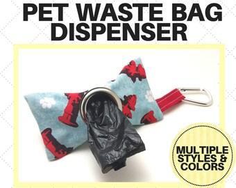 Pet Waste Bag Dispenser - Poop Bag Holder - Fire Hydrant, Bones, Dogs, Paws - Custom