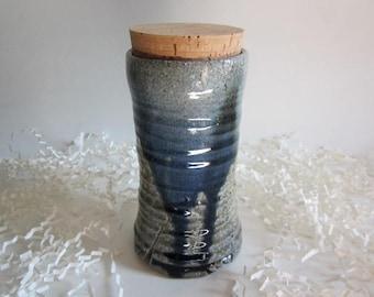 Small Pet Urn, Ash keeper Ceramic Urn, Cremation Urn, Ashes Jar, Ashes Holder Salt fired urn